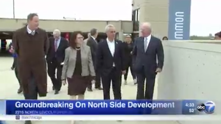 ABC 7 Eyewitness News & the groundbreaking of The Lincoln Common